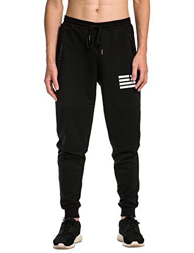 JINIDU Men Fashion Casual Jogging Pants Elastic Waist Drawstring Sweatpants