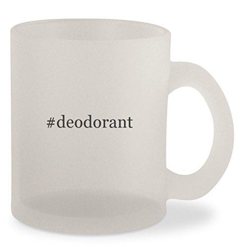 Deodorant Leather Stick English (#deodorant - Hashtag Frosted 10oz Glass Coffee Cup Mug)