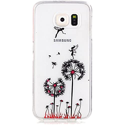 Gravydeals S7 Edge Girls Transparent Soft Case,Amazing Dandelion Elfin Relief Designed Ultra Slim Fit Clear TPU Sales