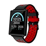 Smart Watch - Fitness Tracker Color Screen Customization Activity Tracker Heart Rate Sleep Monitoring Calorie Counter IP67 Waterproof (Size : Red)
