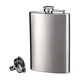 Top Shelf Flasks Stainless Steel Flask & Funne...