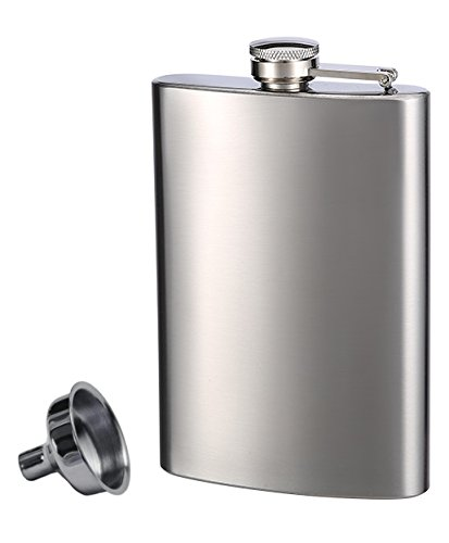 Top Shelf Flasks Stainless Steel Flask & Funnel Set, 8 oz