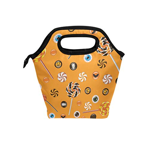 Insulated Cooler Lunch Bag Halloween Lolly Tote LunchBox Food Containers for Men Women Kids