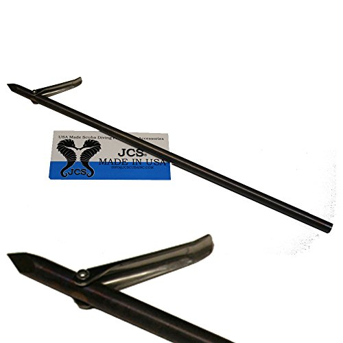 JCS 12inch Hawaiian Flopper Tri-Cut Tip with Single Barb, 6mm Female Thread (Tri Cut Spear)