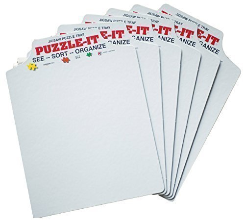 Puzzle-It Trays The Original Jigsaw Puzzle Organizer - Set of 6 holds up to approximately a 500 piece puzzle.](Original Six Puzzle)