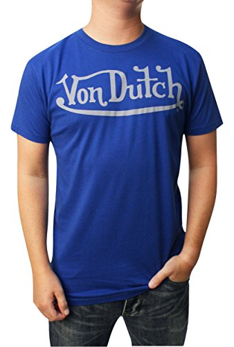 von-dutch-mens-basic-logo-graphic-t-shirt-xl-blue