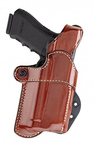 Aker Leather 267 Nightguard Paddle Holster for Weapons with RMR Sights and M3, TLR-1, and TLR-2 Tactical Lights, Tan, Right
