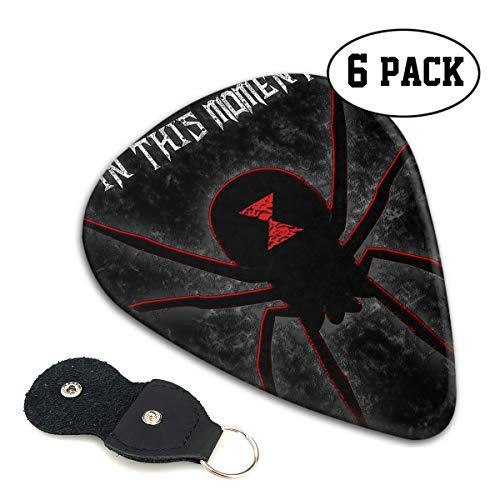 Bonnie D Erhart in This Moment-Black Widow Stylish ABS Guitar Pick 6pcs with Picks Holder