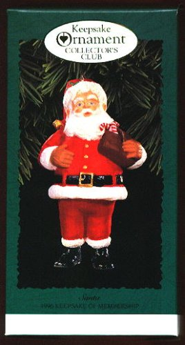Hallmark Keepsake Ornament Collector's Club Santa Keepsake of Membership