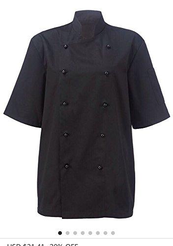 e64e6c6a635 Amazon.com  Newshine Unisex Montgomery Classic Short Sleeve Chef Coat   Clothing