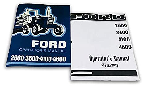 heavy equipment, parts & attachments ford 2600 3600 4100 4600 tractor  operators owners manual supplement manual set