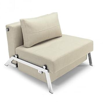 Schlafsessel ausziehbar  Innovation Cubed 90 Sessel / Schlafsessel, sand Gestell chrom ...