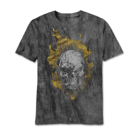 Ghost Rider Head Banger Charcoal River Wash T-Shirt | XL
