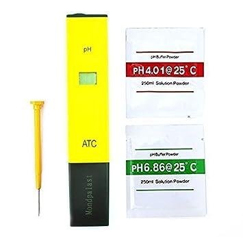 Exacto PH de Precisión LCD Medidor Digital Para Acuario Piscina MESURADOR: Amazon.es: Electrónica