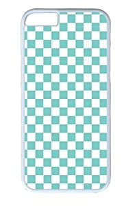 Blue and white squares PC Case Cover for iphone 5c and iphone 5c inch White