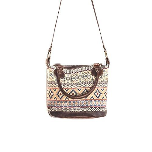 Amazon.com  Ethnic Leather bag and thai fabric   Leather handbag   ethnic  fabric   Women leather bag   Boho bag   Cross-body bag   Vintage bag   Handmade 1a8310351e397