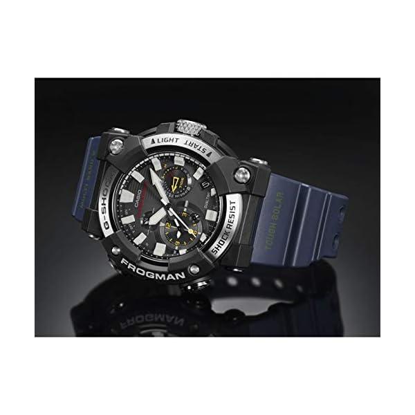 Casio G-Shock Frogman 2020 - Reloj analógico de cuarzo resistente a los golpes con Bluetooth, recepción de señal de… 5
