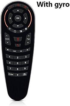 Calvas Mini teclado G30 inalámbrico Gryo voz aire remoto 33 teclas IR aprendizaje para Smart TV PC TV Box teléfono móvil 2.4G WiFi: Amazon.es: Bricolaje y herramientas
