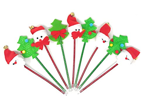 Sea View Treasures 12 Bulk Fun Christmas Novelty Pen Assortment -