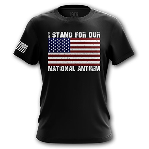 Tactical Pro Supply I Stand for National Anthem USA Flag Patriotic Men's T-Shirt - (Supply Stand)