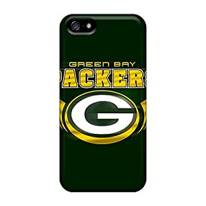 Durable Cell-phone Hard Cover For Iphone 5/5s With Unique Design HD Green Bay Packers Pattern ErleneRobinson