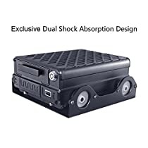 SoloSafety Exclusive Dual Shock Absorption Design MDVR H941 with 4CH AHD 720P 4G 3G GPS WIFI HDD+SD Dual Storage Remote Controll Reverse Image for Vehicle Video Surveillance(Edition:WIFI+GPS+RJ45)