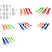 Hubsan X4 H107D 5.8Ghz [QTY: 1] White on Propeller Blades Props 5x Propellers [QTY: 1] Transparent Clear Blue and Green Rotor Set 55mm Factory Units [QTY: 1] Red [QTY: 1] [QTY: 1] Orange [QTY: 1] [QTY
