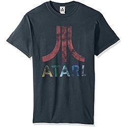 Atari Men's Classic Colorful Logo T-Shirt, Dark Heather, X-Large