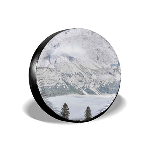 Greatmindo Tire Cover 15 Inch Gray Mountains Under Blue Sky Weatherproof Tire Protectors Aterproof Film Tire Sun Protectors ()