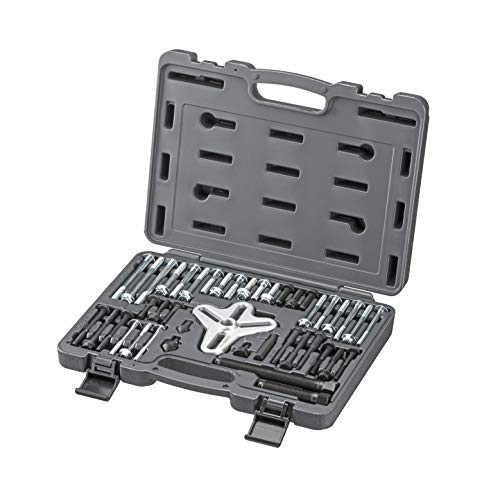 ARES 71000 | 43-Piece Harmonic Balancer Puller Set | for Use with Harmonic Balancers, Steering Wheels, Crankshaft Pulleys and Gears | Works with Most Cars, Pickups, and SUVs ()