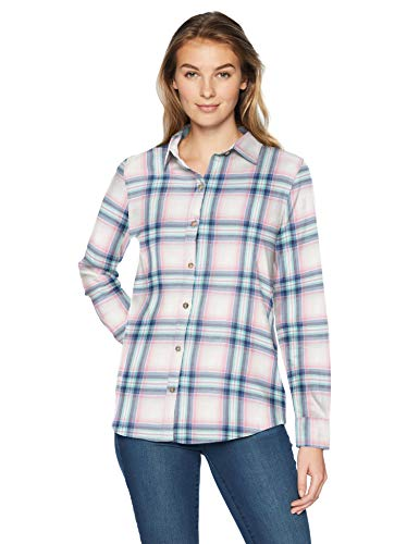 Amazon Essentials Women's Long-Sleeve Classic-Fit Lightweight Plaid Flannel Shirt Shirt, -white Multiplaid, - Flannel Heavyweight Shirt