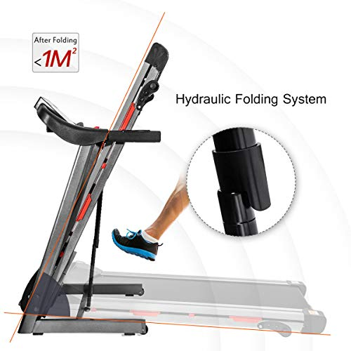 Merax Folding Treadmill for Home Use, Easy Assembly Compact Running Machine (1.5HP) 2