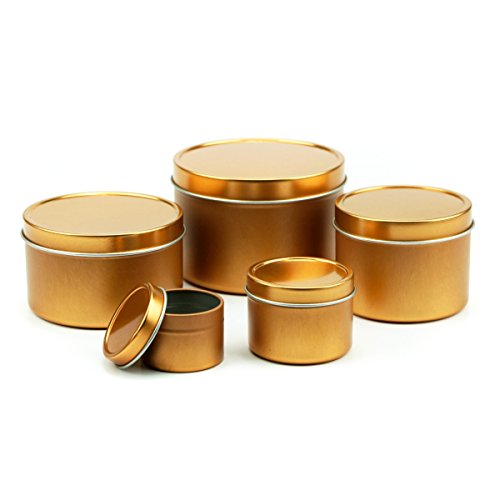 Mimi Pack 16 oz LIMITED SERIES RUN Deep Round Tin Solid Slip Top Lid For Salves, Favors, Spices, Balms, Candles, Gifts Limited Run Series (Bronze)