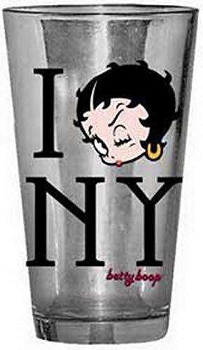 Silver Buffalo Betty Boop I Love NY Pub Glass 91031