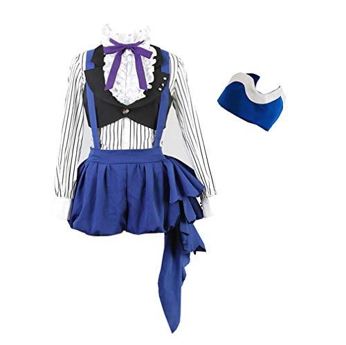starfun Black Butler Kuroshitsuji 3 Earl Ciel Phantomhive Dress Cosplay Costume Halloween Uniform Suit]()