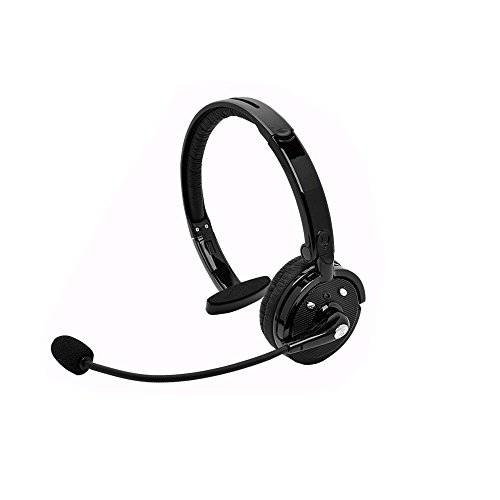 OWIKAR Over the Head Wireless Bluetooth Headset for Car & Truck Drivers, Multipoint Noise Canceling Headphones Earphone Earpiece With Mic Handsfree Calling Talking for Cell Phones PS3 iPad PC