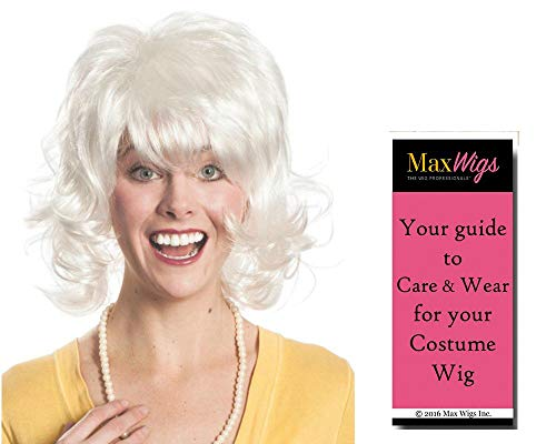 Deana Paula Deen color WHITE - Enigma Wigs Celebrity Chef Grandma Southern Cooking Recipe Bundle MaxWigs Costume Wig Care Guide]()