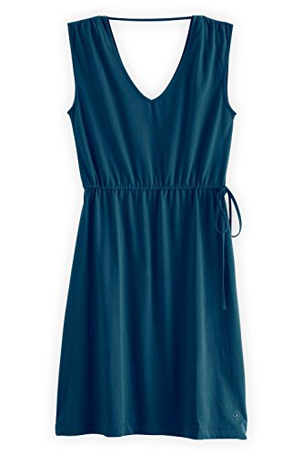 Fair Indigo Double V-neck Organic Fair Trade Dress (S, Dark (Jersey V-neck Dress)