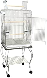 Brand New Parrot Bird Cage Cages Play w/Stand 20x20x58-600HCHR