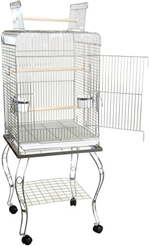 Brand New Parrot Bird Cage Cages Play w/Stand 20x20x58-600HC