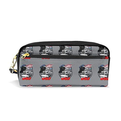 Multifunction Durable Cosmetic Bag Vintage Route 66 Logo Pencil Bag Pouch Bag Case Makeup Bag]()