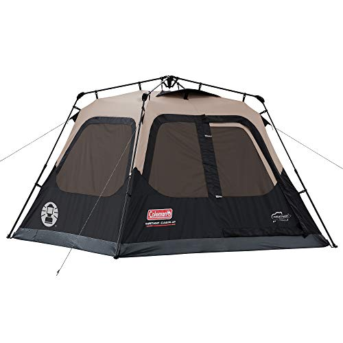 Coleman 4-Person Cabin Tent with Instant Setup | Cabin Tent for Camping Sets Up in 60 Seconds ()