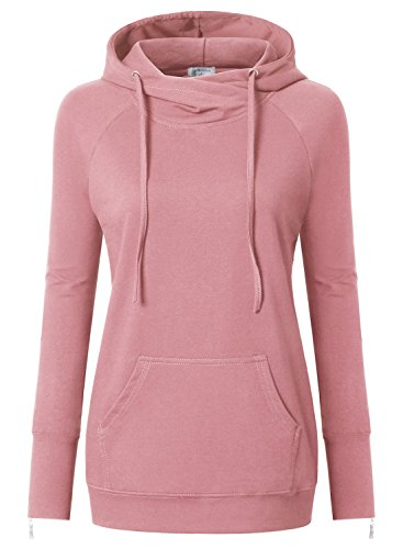 Women Fashion Casual Hooded Long Sleeve Solid Pullover Hoodie - 5