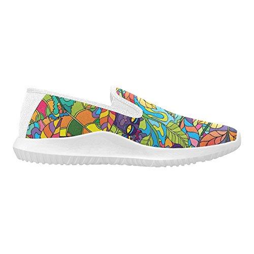 Mocassino Slip-on Donna Interestprint Sneakers Moda Multi Canvas 9