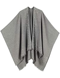 Cardigan Poncho Cape: Women Elegant Cardigan Shawl Wrap...