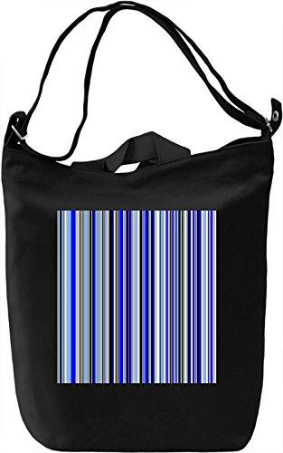 Vertical Stripes Print Borsa Giornaliera Canvas Canvas Day Bag  100% Premium Cotton Canvas  DTG Printing 