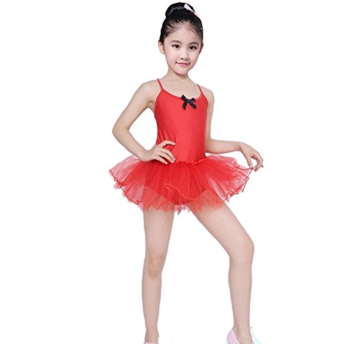 Easter Sale:Zohto Romper Jumpsuit Baby Girl,Children Girls Tutu Tulle Party Dance Ballet Kids Solid Color Costume Dress Red