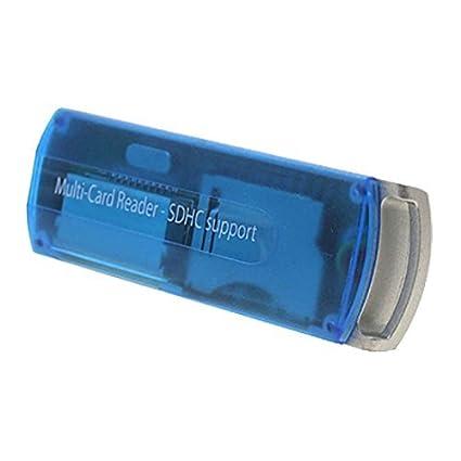 eDealMax USB 2.0 Mini Micro SD MMC Lector de tarjetas SDHC escritor Azul