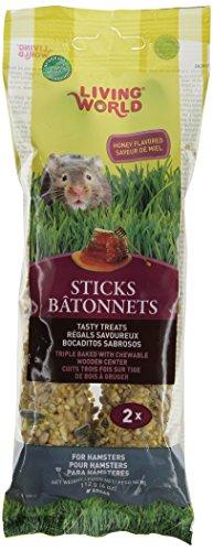 - Living World Hamster Honey Treat Sticks, 4-Ounce