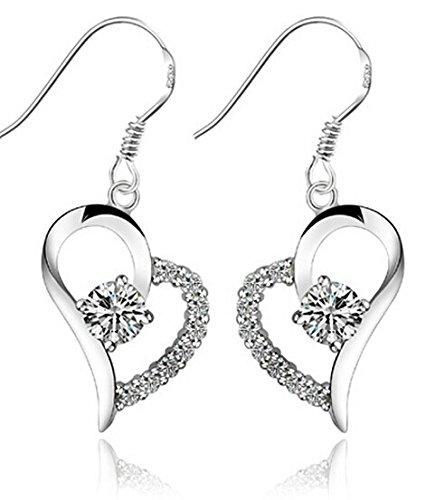 Newest trent Heart shaped Rhinestone Earrings product image